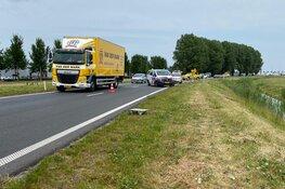 Auto in de sloot langs Westfrisiaweg